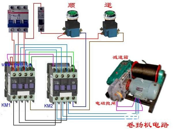 接触器接线图解析       常用的三相异步电动机带过热保护的电路接线