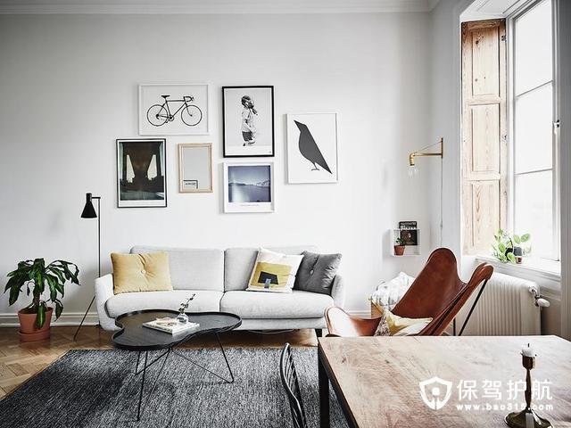 59㎡清新北欧公寓装修效果图