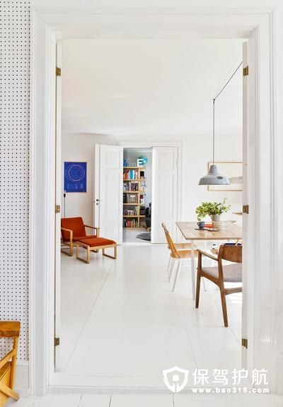 时尚优雅的北欧风客厅走廊装修效果图