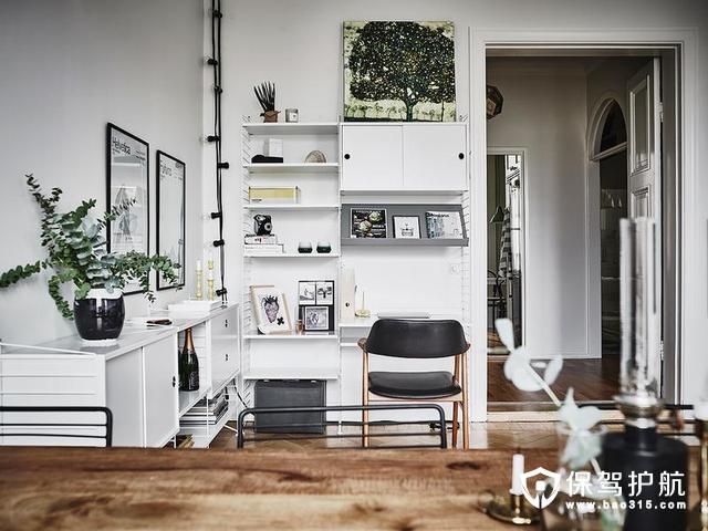 北欧风格客厅工作区装修效果图