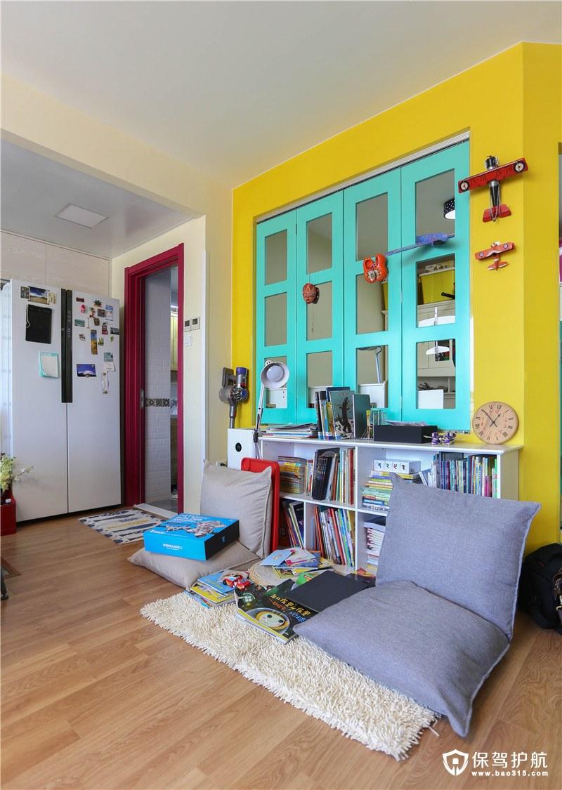 宜家风格客厅读书角装修效果图