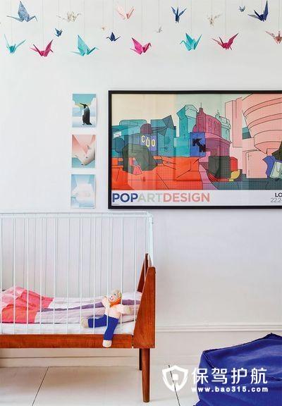欢快欧式风格儿童房背景墙装修效果图