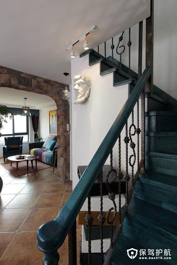混搭风格复古范楼梯
