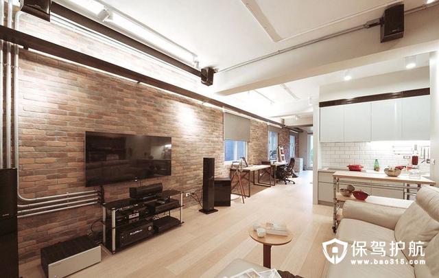 质感工业宅82平二居装修效果图