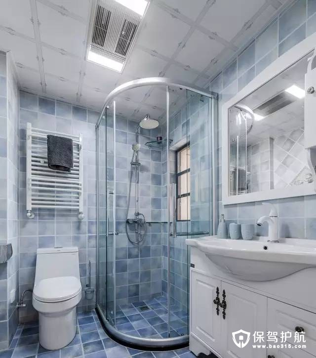 现代美式风格卫浴室装修效果图