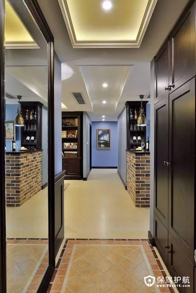 140㎡摩登美式风四室两厅装修效果图