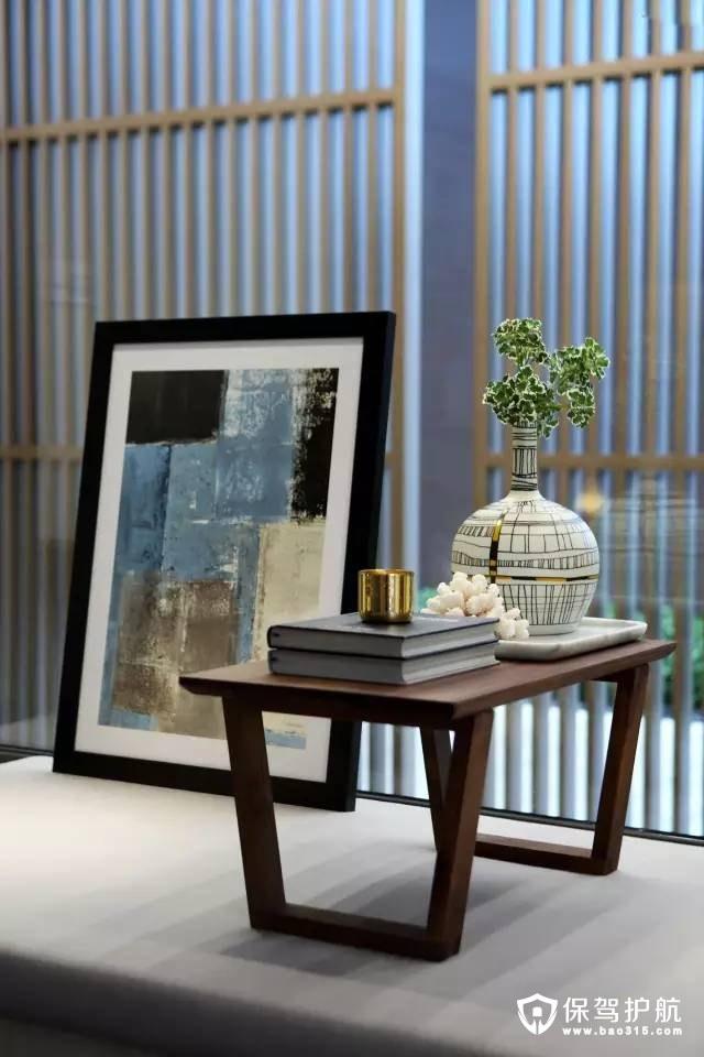 现代风格客厅飘窗陈设装修效果图