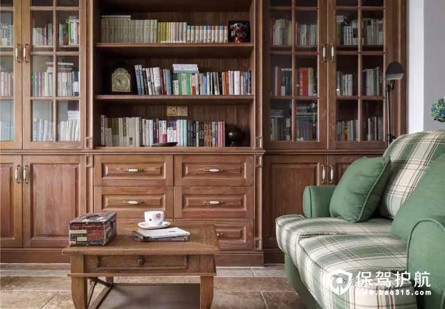 文化气息萦绕的美式风格客厅装修效果图