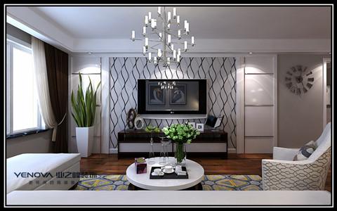 大连业之峰装饰-保利西山林语-134平米现代简约美家