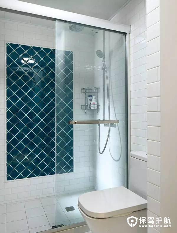 干湿分离北欧风格浴室装修效果图