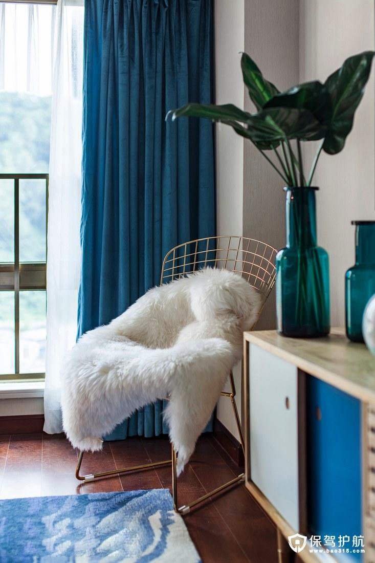 阳光与海洋的气息北欧风格卧室一角装修效果图