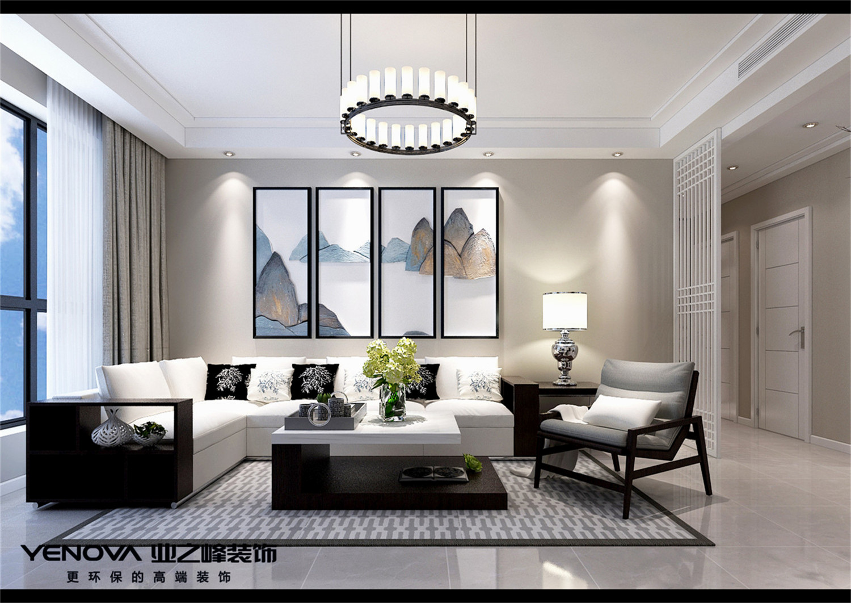 大连业之峰装饰-海韵华府-143平-新中式风格