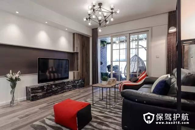 时尚前卫124㎡现代风格3室2厅装修效果图
