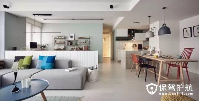 90m²简约一居室新婚房装修效果图
