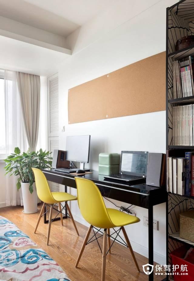 特色亮眼北欧风格卧室工作区装修效果图