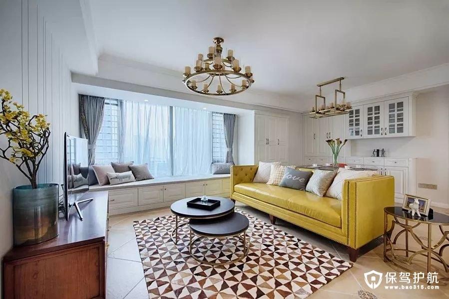 明亮大方美式风格客厅装修效果图