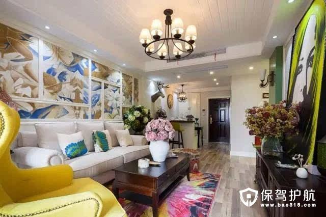 英式风格91平色彩公寓