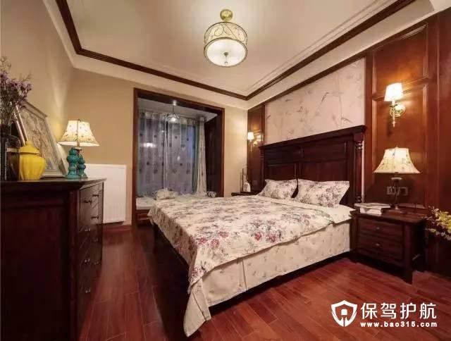新中式欧式意味主卧室装修效果图
