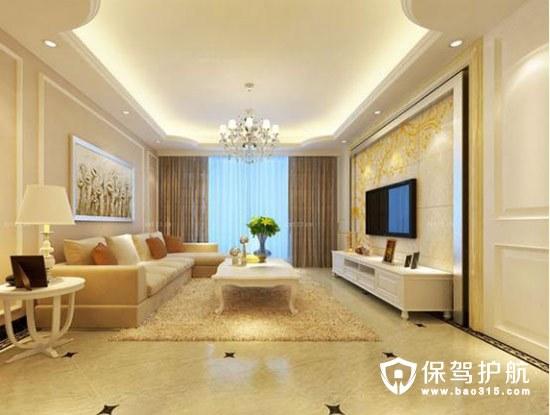客厅大理石电视墙效果图