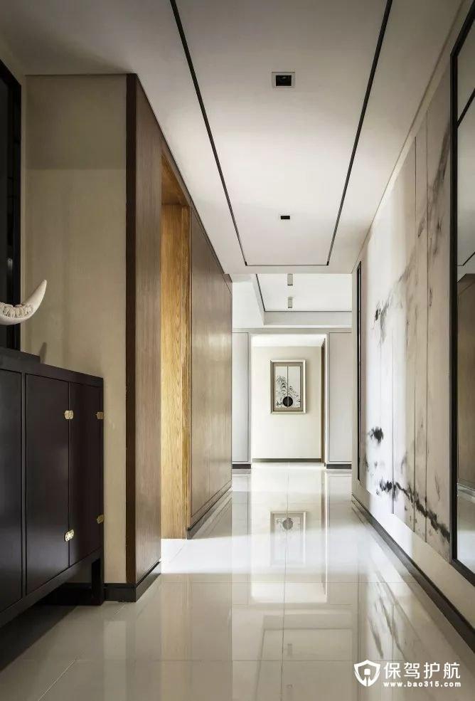 儒雅韵味新中式风格客厅过道装修效果图