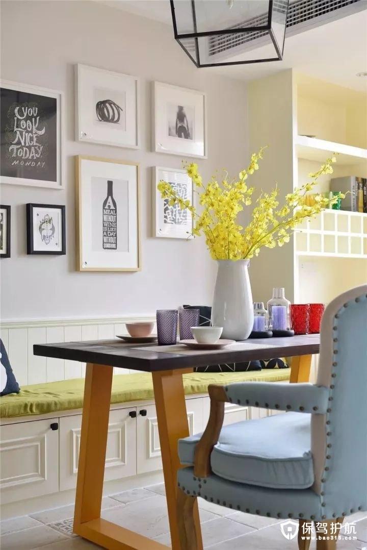 精致舒适美式风格餐厅背景墙装修效果图