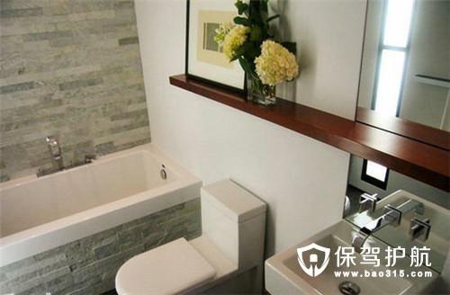 小浴室也可以有大浴缸