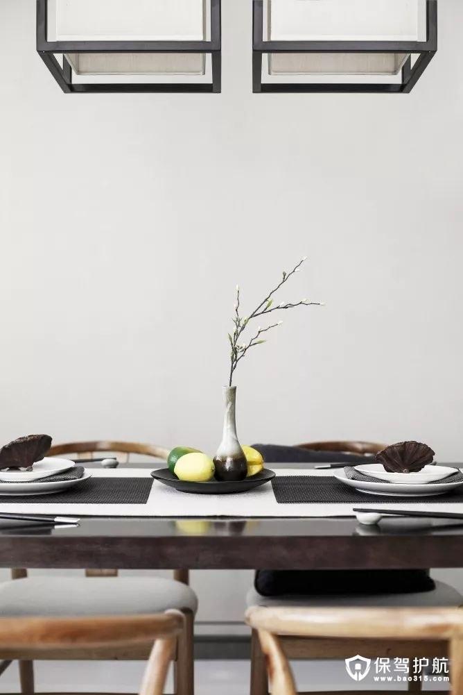 独特韵味禅意新中式风格餐厅装修效果图