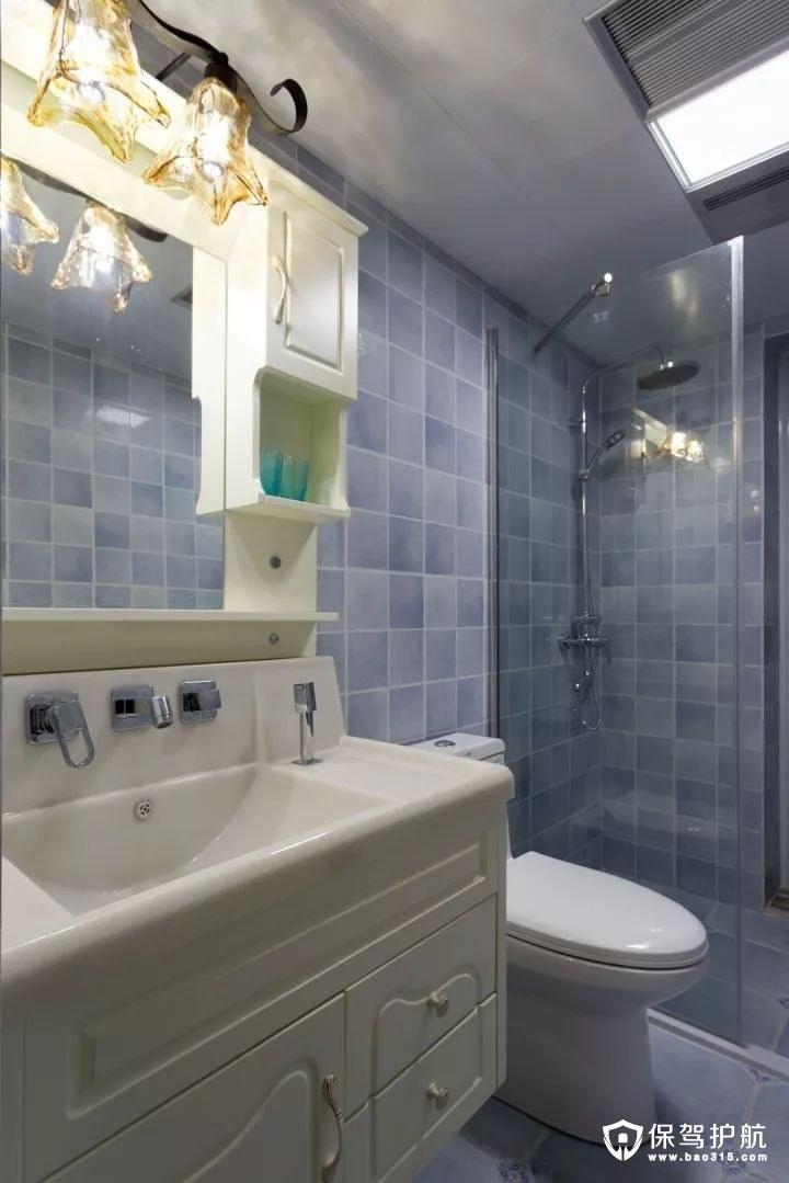 干净简洁又大方美式风格卫生间装修效果图