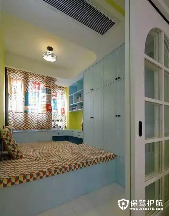 惬意舒适地中海风格卧室榻榻米装修效果图