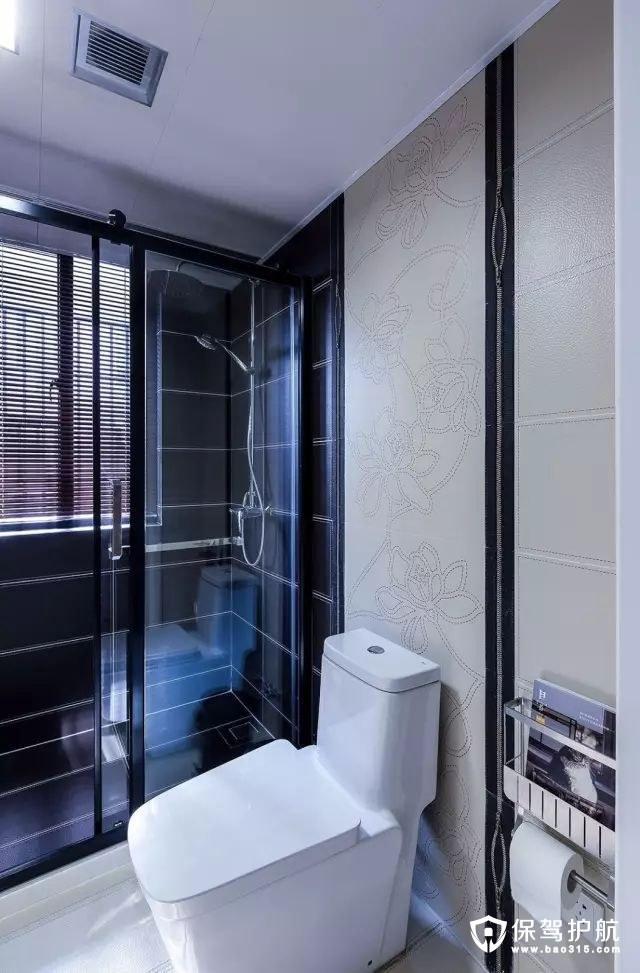 现代简约风格皮纹砖卫生间