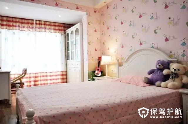 新中式混搭粉红色儿童房