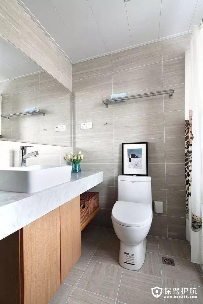 洁白现代简约风格卫生间装修效果图