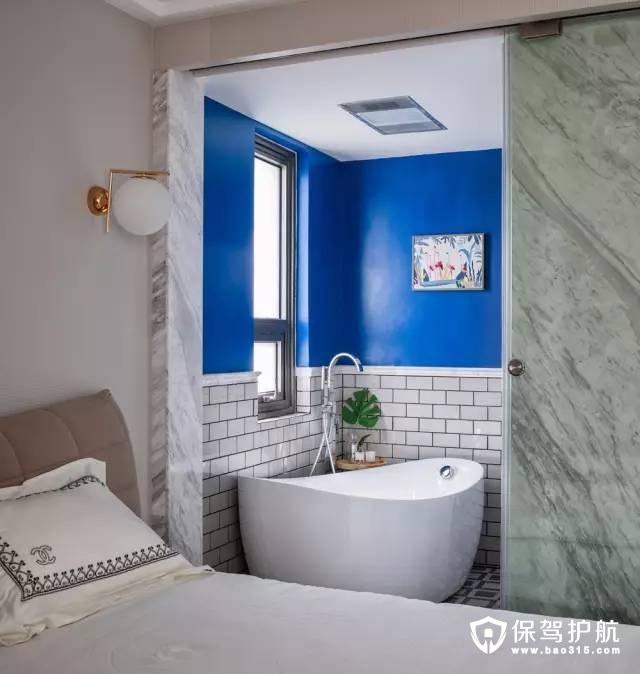 明蓝灵动美式风格卫生间装修效果图