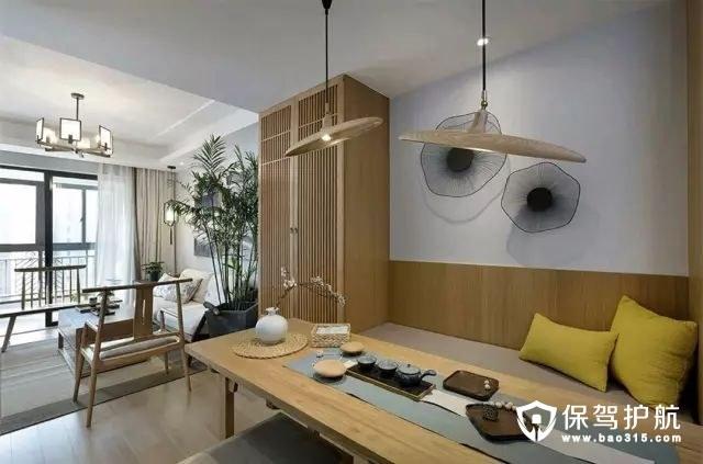 原木色新中式风格餐厅装修效果图