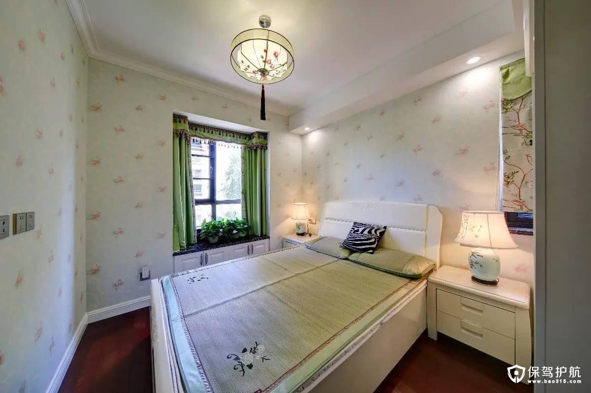 清新活力新中式风格卧室装修效果图