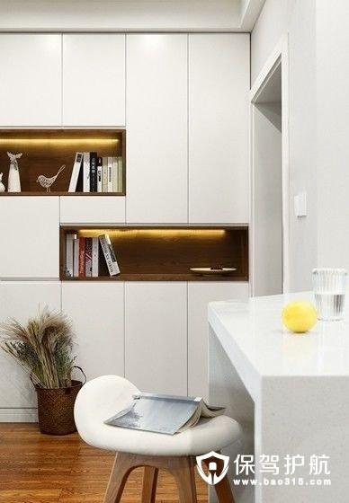 北欧风格过道嵌入式书柜设计
