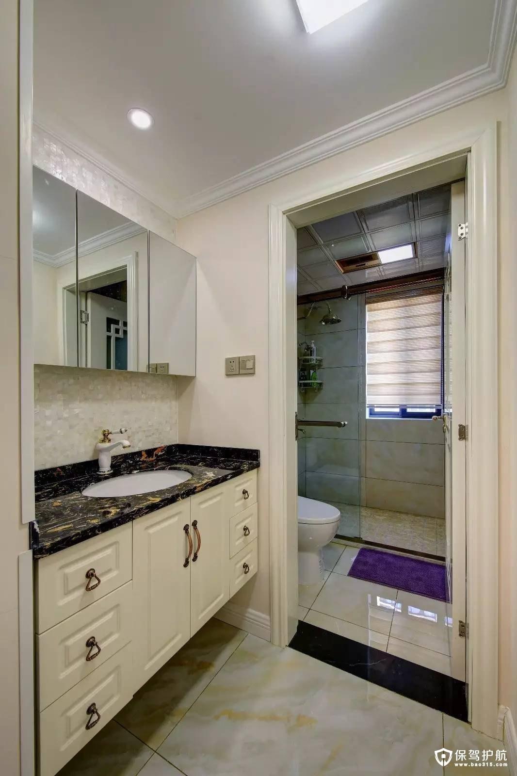 舒适又温馨新中式风格卫生间装修效果图