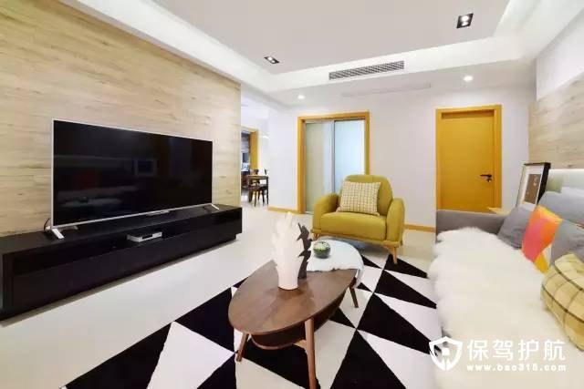 清新简单现代简约风格客厅装修效果图