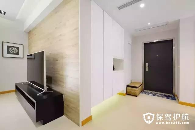简单适宜门厅和客厅的墙面转折装修效果图