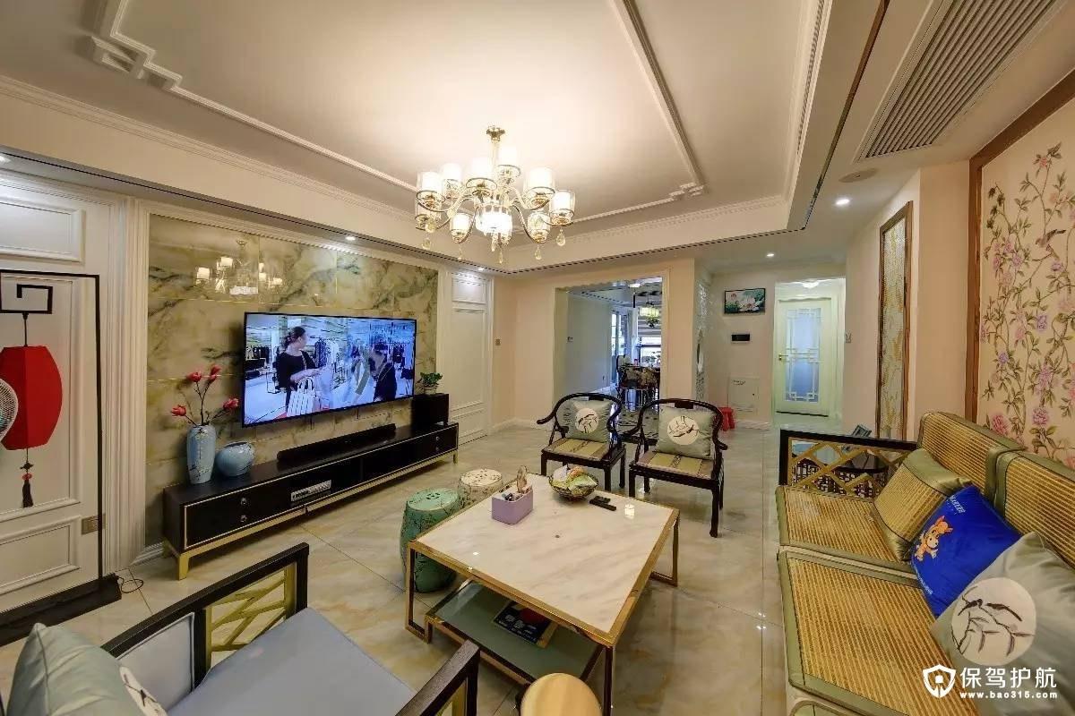 古韵125m²新中式三居室装修效果图