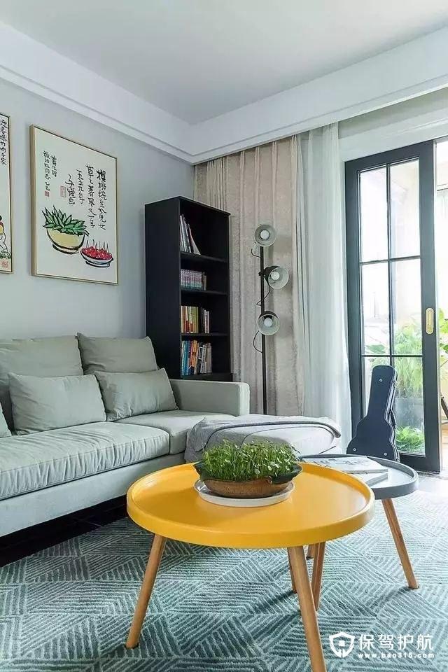 文艺清新现代简约风格客厅装修效果图