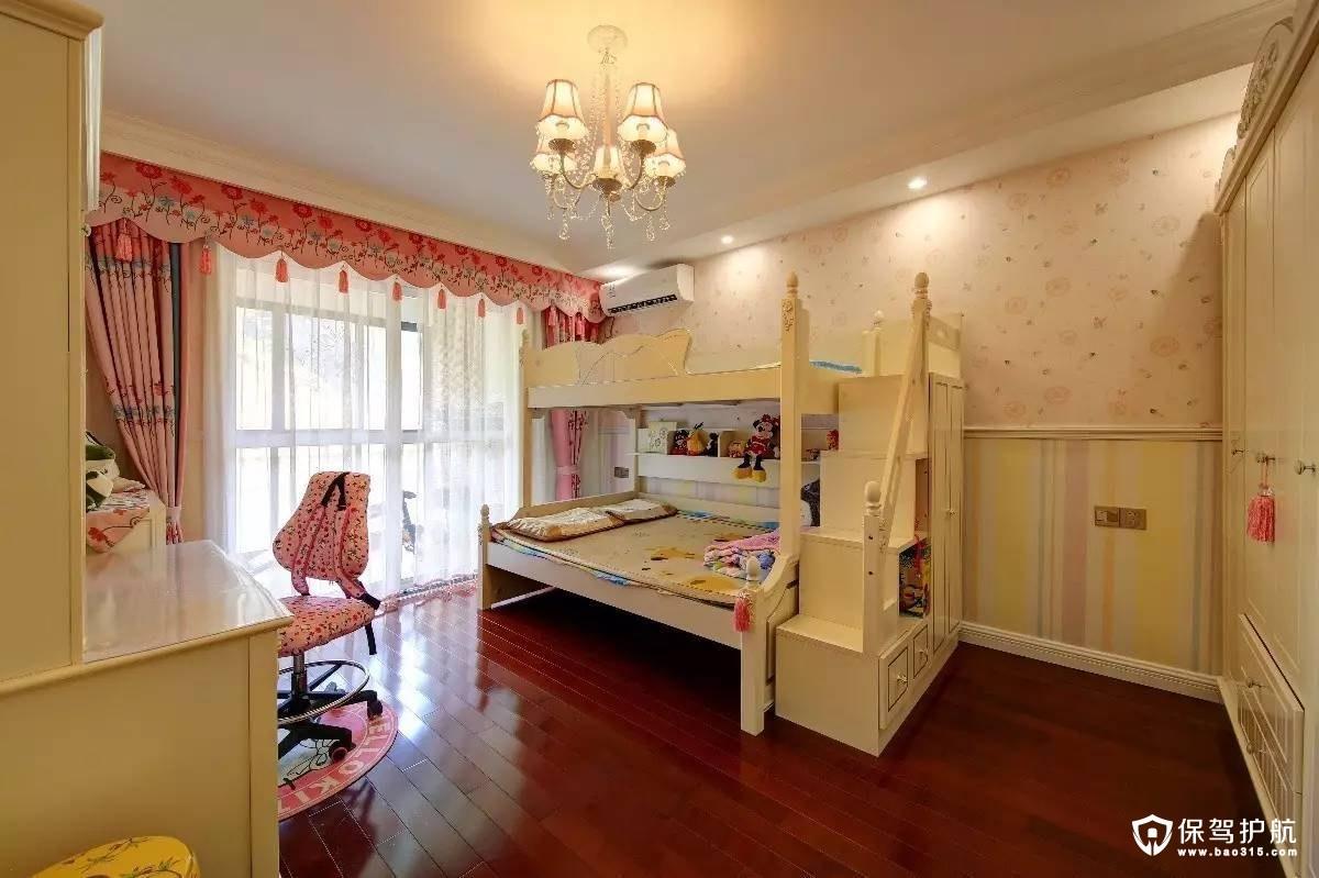 粉嫩可爱新中式儿童房装修效果图