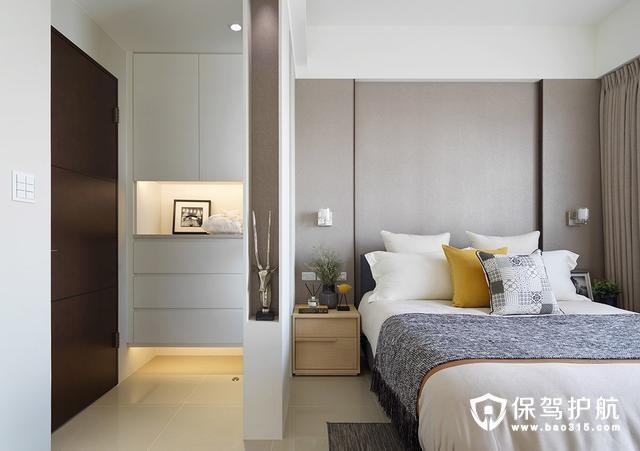 现代简约风格卧室屏风装修效果图