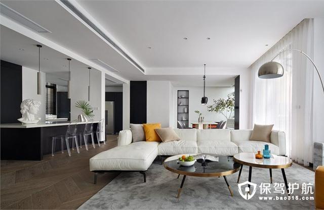 高冷硬朗气质现代风格客厅装修效果图