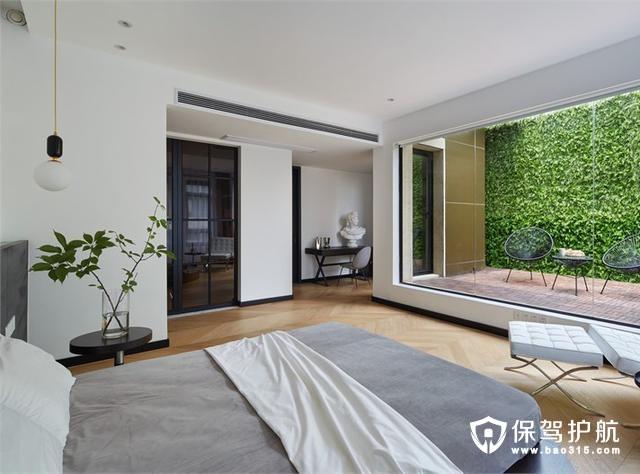 禅意现代风格卧室装修效果图