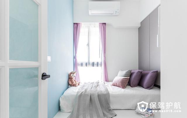 宜家风格女孩房架高卧铺设计
