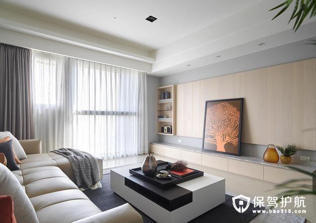 现代简约风格大面积落地窗装修效果图