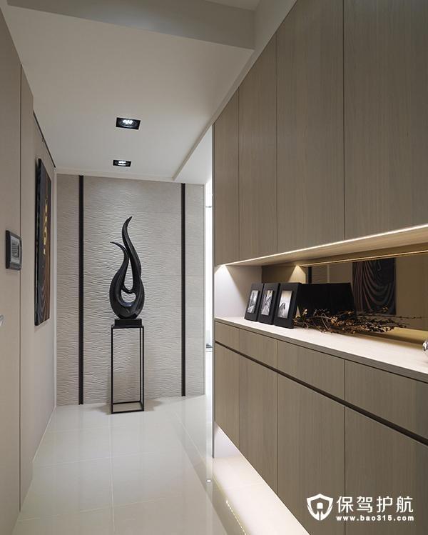 现代简约风格玄关柜装修效果图