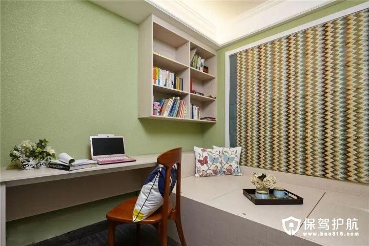 素雅绿美式混搭风格书房装修效果图