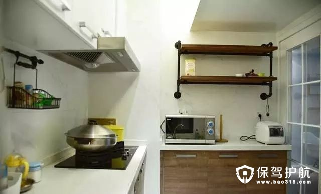 工业风北欧风格厨房装修效果图